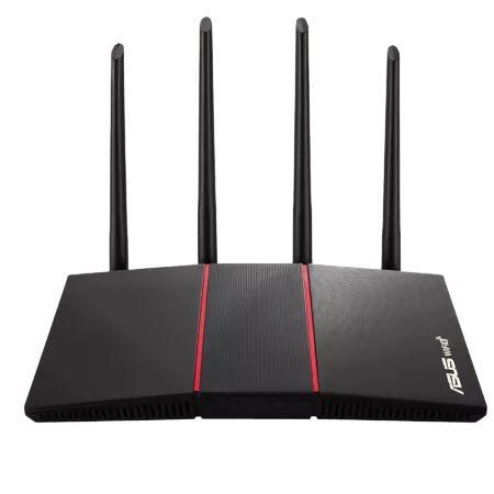 华硕(ASUS)RT-AX56U热血版双频博通四核/WiFi6游戏千兆路由器/送六类网线/三年质保