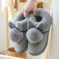 OLOME 女士包跟棉拖鞋