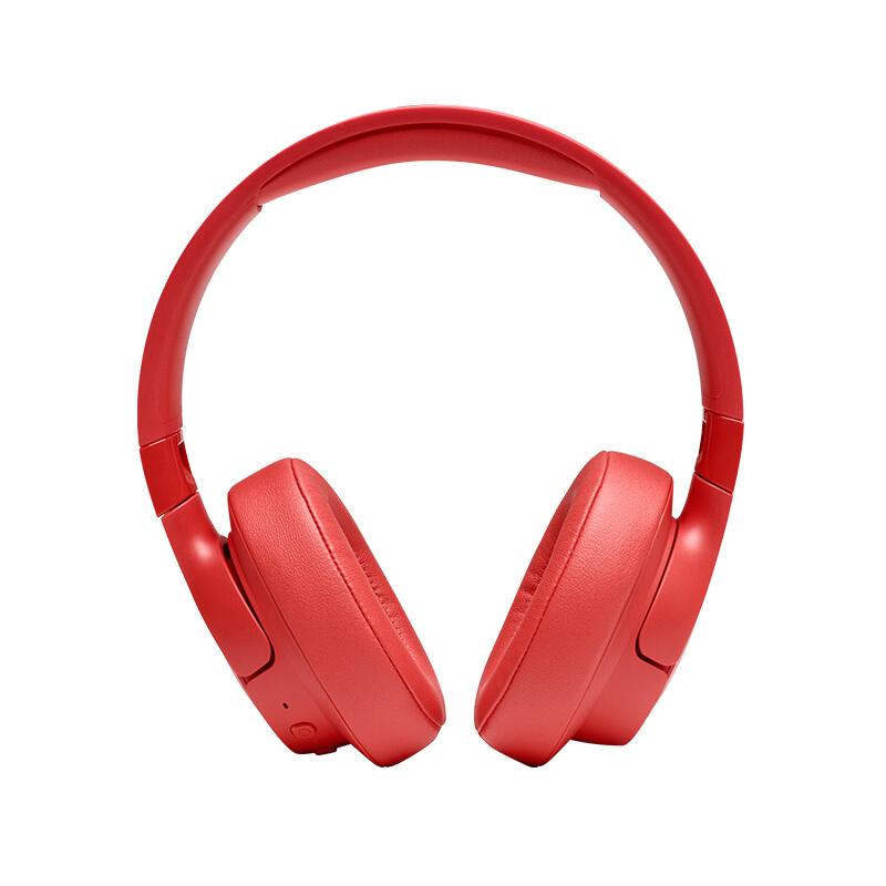 JBL 杰宝 T750BTNC 头戴式蓝牙耳机 红色