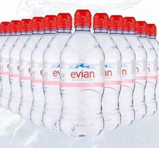 evian 依云 运动瓶盖版 天然矿泉水 750ml*12瓶