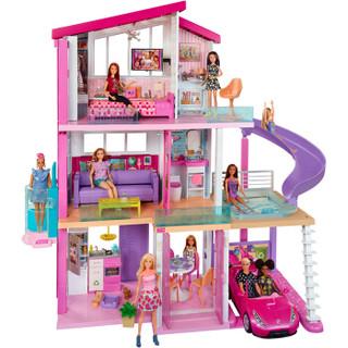 Barbie 芭比 芭比娃娃之新版梦想豪宅大礼盒 FHY73
