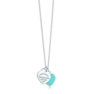 再降价、新补券 : Tiffany&Co. 蒂芙尼 27125107 蓝色珐琅S925银项链