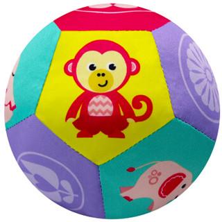 费雪(Fisher Price) 摇铃手抓布球 新生儿布艺玩具球婴幼儿启蒙玩具女宝宝款F0856 *5件