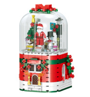 汇奇宝 QL0981 圣诞老人音乐盒 355颗粒 *2件