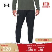 安德玛官方UA Sportstyle男子运动长裤Under Armour1290261 黑色001 XXL