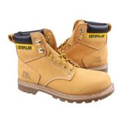 CAT 卡特彼勒 男士牛皮高帮系带马丁靴CAT70042 黄色40