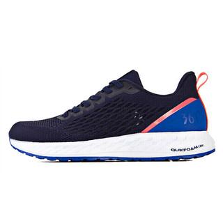 361° 锋熠 男士跑鞋 571922204 黑影蓝/萤光热情珊瑚粉 40