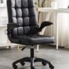 LISM 简约家用黑色电脑椅 钢制脚(皮艺)