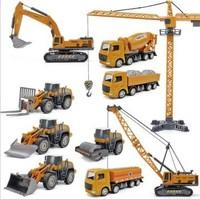 邦娃良品 合金工程车套装 吊塔+压路车+运输车+推土车+挖掘机+搅拌机