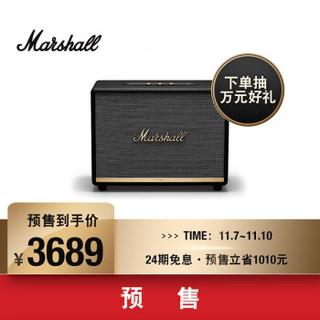 马歇尔(Marshall)WOBURN II BLUETOOTH音箱无线蓝牙摇滚家用重低音音响 黑色