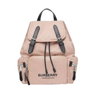 BURBERRY 博柏利  女士Logo印花抽绳双肩包 中号