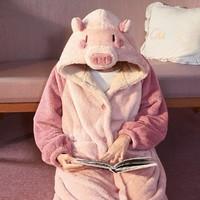 果壳 720403102232406 女士猪猪睡袍