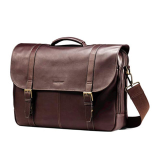 Samsonite 新秀丽 Colombian Leather Flapover 男款公文包