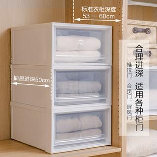 爱丽思抽屉式收纳箱塑料储物箱衣服收纳盒收纳柜子