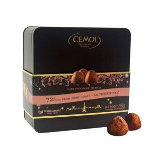 赛梦(CEMOI)松露形黑巧克力制品礼罐260g