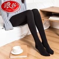 移动专享:LangSha 浪莎 8812 黑色连脚打底裤 1条装