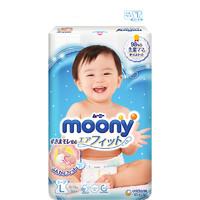 moony 畅透微风系列 纸尿裤 L54片