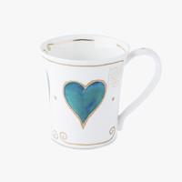 英国原产DUNOON丹侬骨瓷马克杯水杯Jura型 蓝色