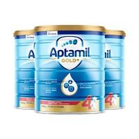 Aptamil 爱他美 金装婴儿配方奶粉 4段 900克 3罐装