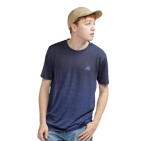 UNIQLO 优衣库 漫威DRY-EX系列男士纯色圆领短袖T恤428024 藏青色XS