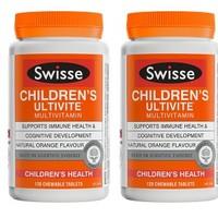 Swisse 瑞思 儿童复合维生素咀嚼片 120片*2瓶