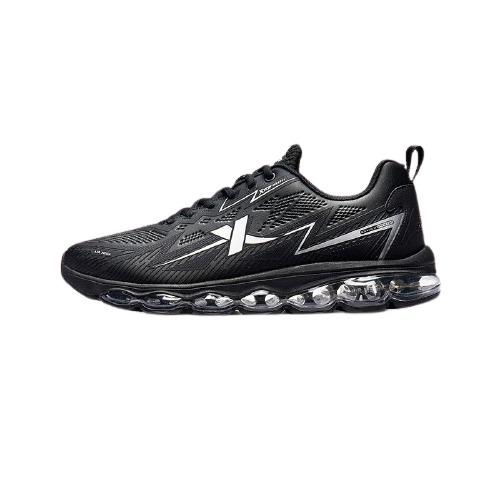XTEP 特步 AIR MEGA1.0 男士跑鞋 881419119659 黑银 42