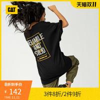CAT/卡特短袖T恤男2020夏季新款男休闲油墨印花短袖T恤专柜同款 *3件