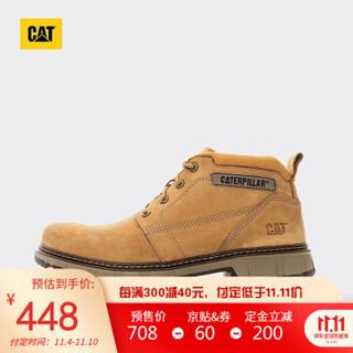 CAT/卡特休闲靴男新品GOLD RUSH牛皮革黄色P723788I3UDC25