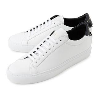 纪梵希 GIVENCHY FW20秋冬 男士双色哑光皮革休闲运动鞋板鞋 BH0002H0FS 116 白色/黑色 42