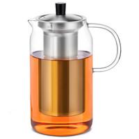 尚明samadoyo 耐热加厚玻璃茶壶不锈钢过滤家用大容量泡茶器S053 900ml