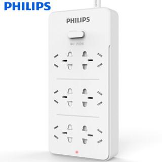 PHILIPS 飞利浦 插排插线板  六位3米