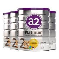 88VIP:a2 艾尔 Platinum 白金版 幼儿配方奶粉 2段 900g 4罐