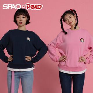 SPAO不二家peko联名套头纯色圆领长袖卫衣2020秋季新款 *4件
