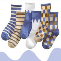 甘倩 wz007 女士中筒袜子 5双装