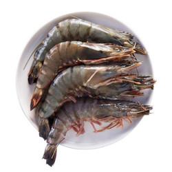 味库 越南活冻黑虎虾盒装大号 毛重约600克 12-20只*1盒 *3件