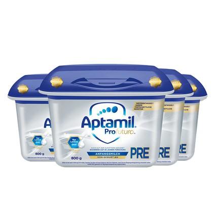 Aptamil 爱他美 白金版 HMO婴儿配方奶粉 pre段 800g*4罐(0-6个月)德国版