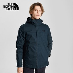 TheNorthFace 北面 4U7L-FW20MFO-XC7 男士羽绒内胆三合一冲锋衣