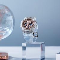 CASIO 卡西欧 G-SHOCK 系列 GMA-S120SR-7A 女款透明地球仪手表
