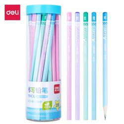得力(deli)30支桶装2B学生六角杆铅笔素描绘画笔木质儿童书写铅笔 58167 *5件