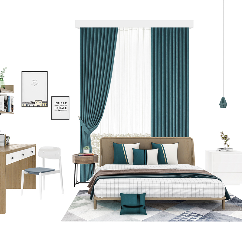 Aqara 智能窗帘套装 窗帘电机+3米内直轨+测量安装服务 遮光帘