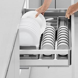 HIGOLD 悍高 304不锈钢抽屉式碗架 800柜单层