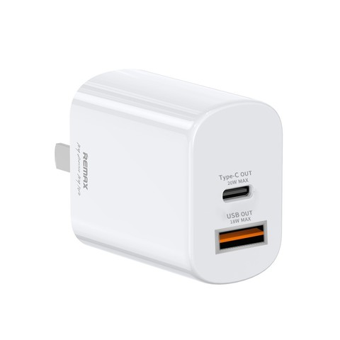 REMAX 睿量 QC/PD 双口手机充电器 + iPhone充电线