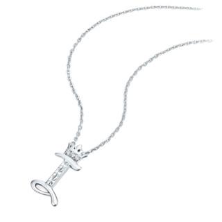 CHOW TAI FOOK 周大福 DREAM系列 AA15293 中性925银镶钻石字母I项链 银色 42.5cm