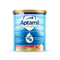海外Aptamil 澳洲爱他美金装 婴幼儿配方奶粉 4段(24月以上)900g/罐 新西兰原装进口 *4件