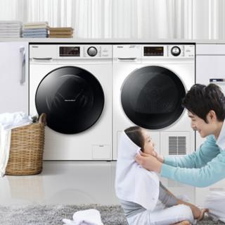 Haier 海尔 洗烘套装 EG100B129W洗衣机10kg+GBNE9-A636烘干机9kg
