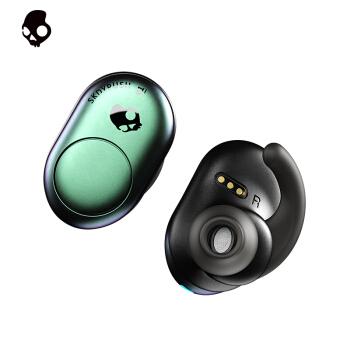 骷髅头(Skullcandy)PUSH 真无线入耳式蓝牙耳机 运动耳机 智能设备 通用华为IOS苹果小米手机 变色青绿