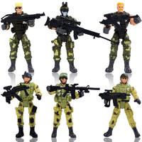 KIDNOAM 衾美 军事兵人模型 6款士兵 10cm