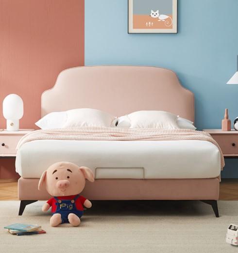 ZUOYOU 左右家私 CHR001 北欧简约科技布艺实木双人床