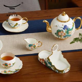 auratic国瓷永丰源 幸福礼-幸福和鸣18头多用茶具 中式家用茶具咖啡具礼品套装 18头茶咖具(送陈列架)-913018923001