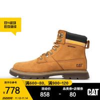 CAT/卡特商场同款秋冬新款男RYMAN WP牛皮革棕黄休闲靴马丁靴男靴P723800I3BDC29 棕黄 42